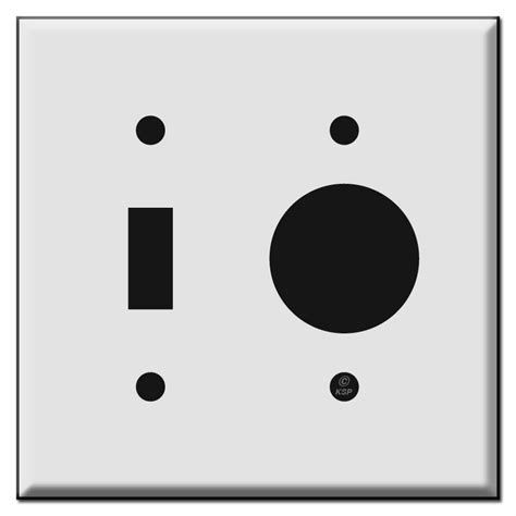 Combo Toggle and Single Round Outlet Cover Plates - Kyle