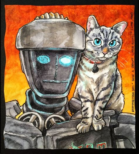 I Draw Famous Robots With Celebrity Cats On My Sons