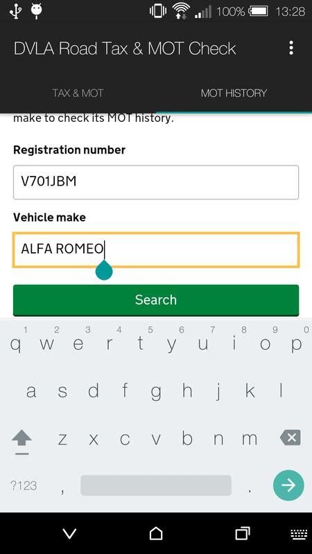 DVLA Road Tax & MOT Check for Android - APK Download