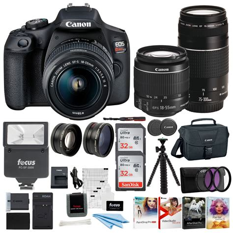 Canon EOS Rebel T7 DSLR Camera with EF-S 18-55mm and EF 75