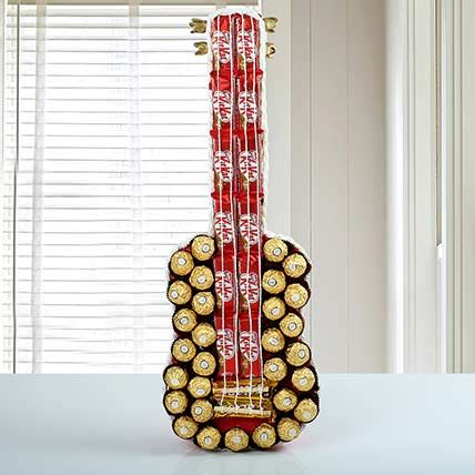 Chocolate Guitar | Gift A Guitar shaped gift containg
