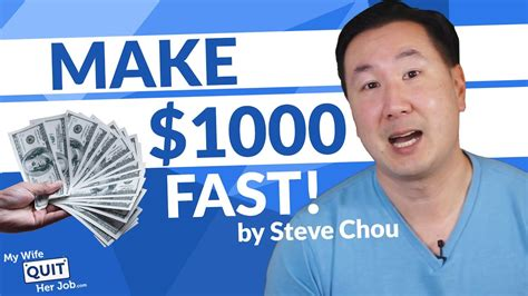 How To Make 1000 Dollars Fast And Turn Your Skills Into A