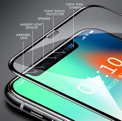 10D FULL COVER Tempered Glass Screen Protector for Apple