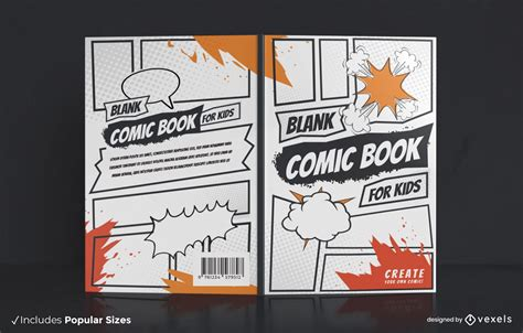 Blank Comic Book Cover Design - Vector Download