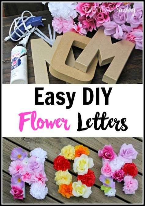 Easy DIY Floral Letter Wall Decorations - Explore Trending