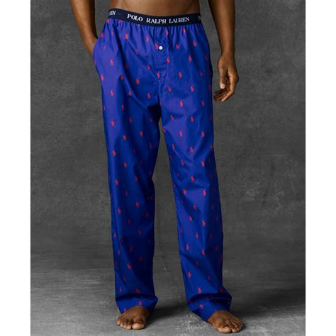 Ralph Lauren Polo Mens Polo Player Pants in Purple for Men