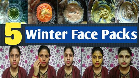 Top 5 winter face packs for dry skin type | Hindi |#