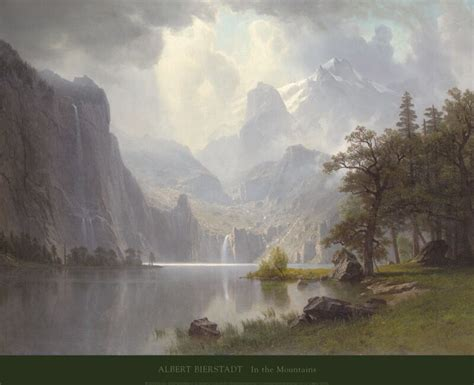 LANDSCAPE ART PRINT - In the Mountains, 1867 by ALBERT