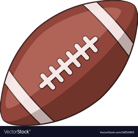Rugby ball icon cartoon style Royalty Free Vector Image