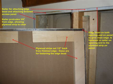 Building a Plumbing Access Panel in Drywall