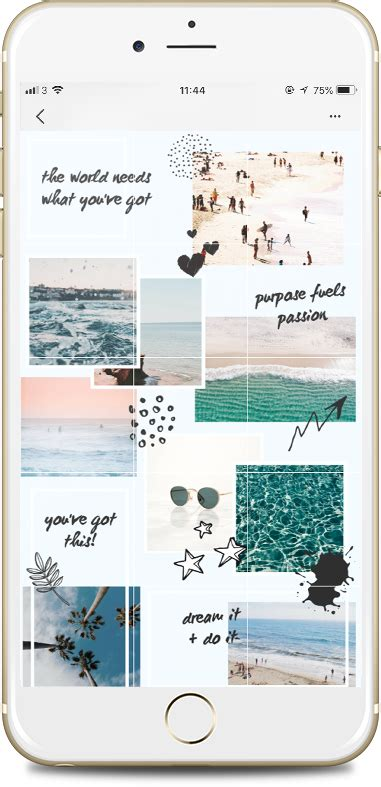 Instagram Puzzle Feed Template in Canva | Desain grafis