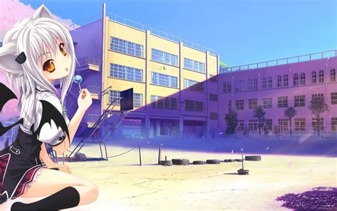 Anime School background ·① Download free cool backgrounds