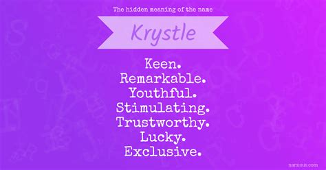 The hidden meaning of the name Krystle   Namious