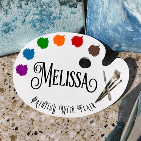 Art Palette Name Tag for artists, craft show vendors and