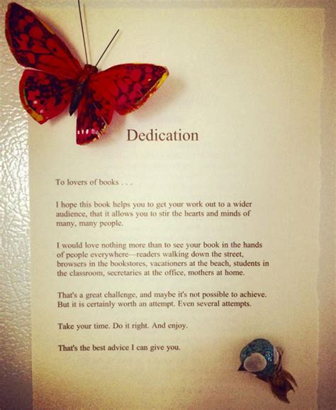 An Example of a Great Book Dedication – Book Marketing