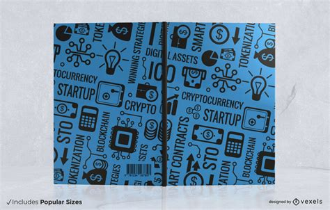 Cryptocurrency Book Cover Design - Vector Download