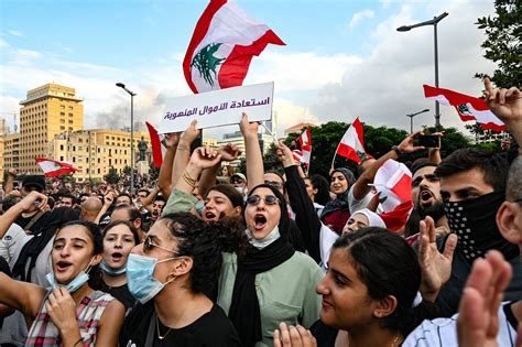 In pictures: Clashes in Lebanon as protesters demand