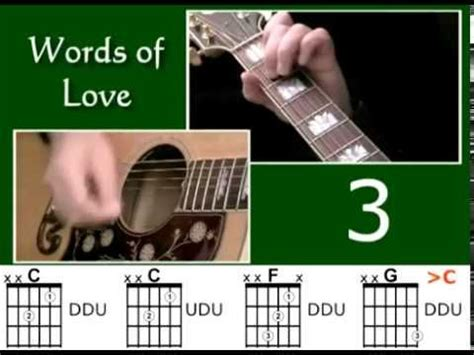How to play Words Of Love by Buddy Holly - Best Beginner